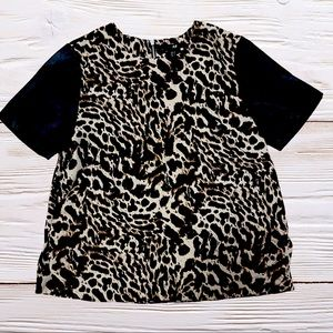 Leopard Top short sleeves size 4 H&M